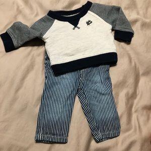 Baby Osh Kosh B'Gosh Sweatshirt with Striped Jeans